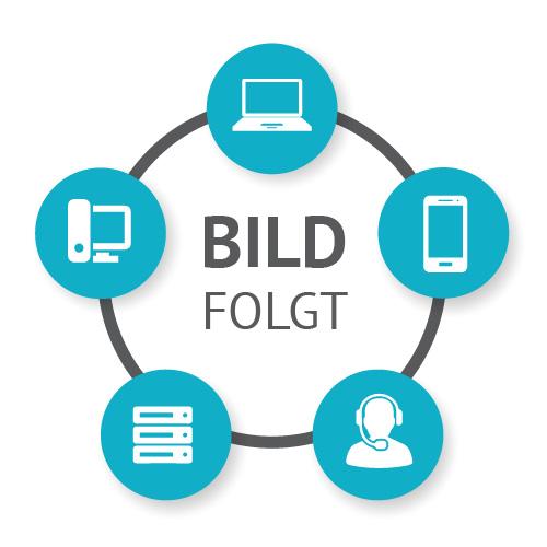 """DIGITUS Konsole mit 43,2 cm ( 17"""") TFT und integriertem 8-Port KVM-Switch; Tastatur & Touchpad"""